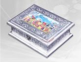 Sculpture Dry Fruit Box (Silver) | Dry Fruit Box